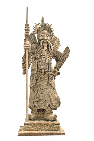 idolatry: China doll carved stone Mr Porter is located in front of the gates  Stock Photo