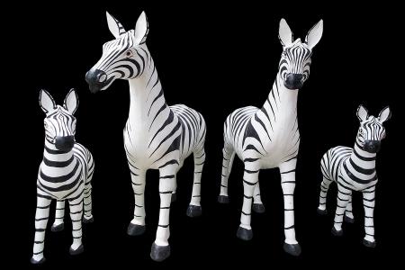 Zebra Statue isolated photo