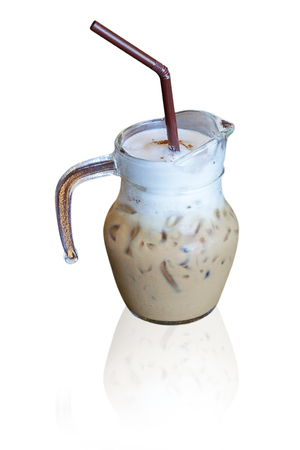 violated: Iced Latte Coffee. Stock Photo