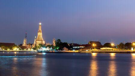 phraya: Prang of Wat Arun. Bangkok,Thailand. public Art