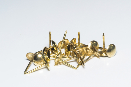 push in pins: push pins in gold colors