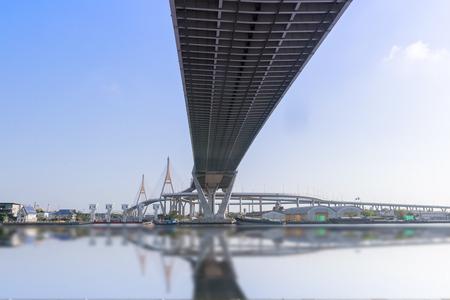 bhumibol: Bhumibol bridge in Bangkok, Thailand Stock Photo