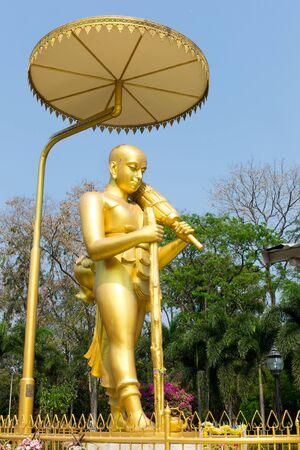 gautama buddha: Gautama Buddha in Wat Phikun Thong Temple. Angthong. Thailand. public Art