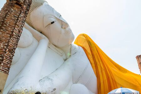 longest: ANG THONG PROVINCE, THAILAND - MARCH 1, 2015: The second longest reclining buddha, 50 metres in length at Wat Khun Inthapramun Temple in Thailand.
