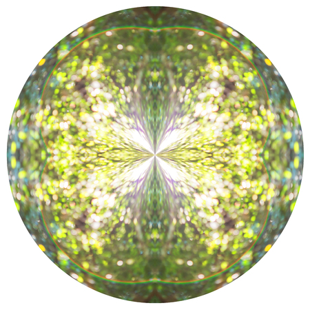 crystal background: Creative Abstract Orb. On a black background, polar coordinate