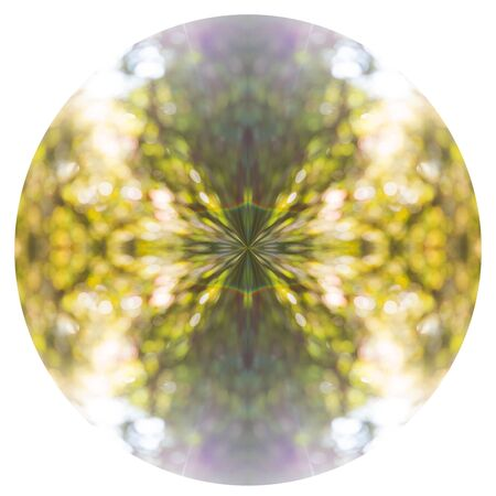 Creative Abstract Orb. On a black background, polar coordinate