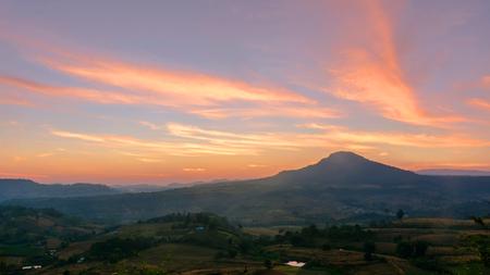 cloudscape after sunset