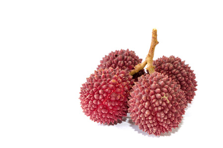 Lychee or Litchi isolated on the white background. 版權商用圖片