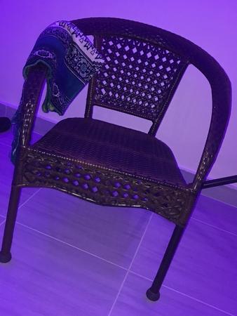木質の椅子 写真素材