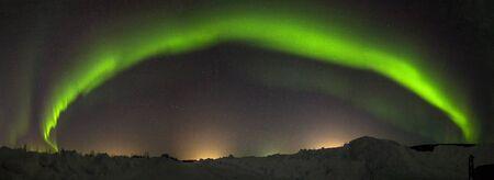 polar lights: Polar lights in the winter night sky