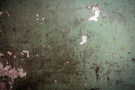 hormig�n: Muro de hormig�n cubierto con pintura vieja