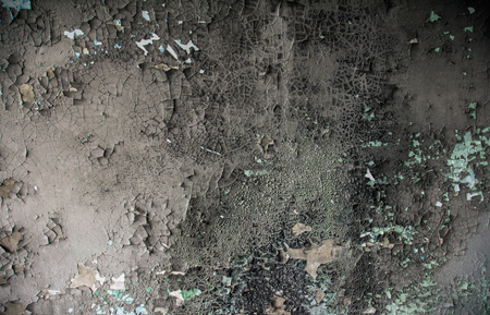 demolish: The paint on the wall is charred after the fire