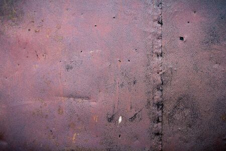 dint: Iron covered with rust scratches and dents