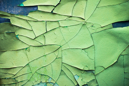 fragmented: Closeup of cracked paint on an old wall Stock Photo