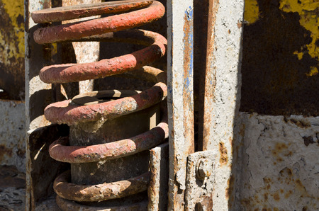 broach: rusty drilling equipment Stock Photo