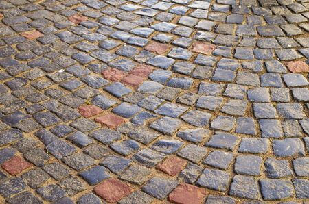 road surface: the road surface paving Stock Photo