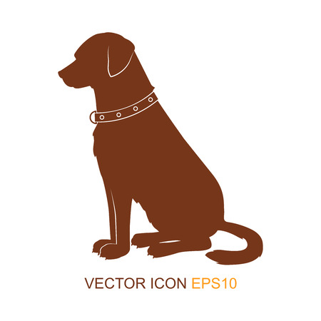 dog silhouette. dogs from the side. Logo. Vector illustration. Ilustrace