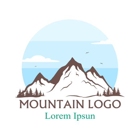 mountains logo. vector illustration. vector silhouette of mountains