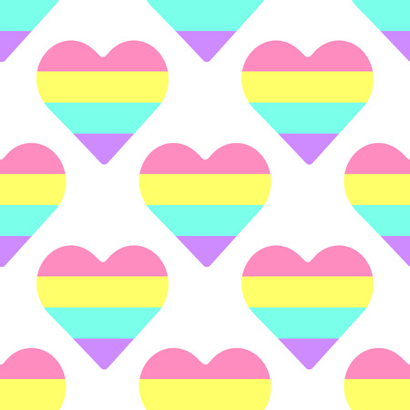 simple seamless pattern with colored hearts. pattern vector Ilustração