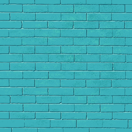 Old blue brick wall vector background