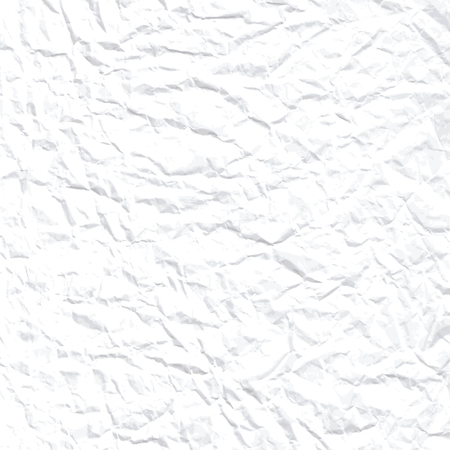 White vector crumpled paper  Illustration