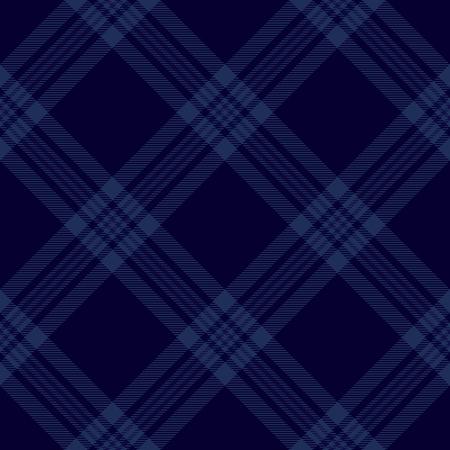 Dark blue tartan diagonal seamless pattern background Vectores