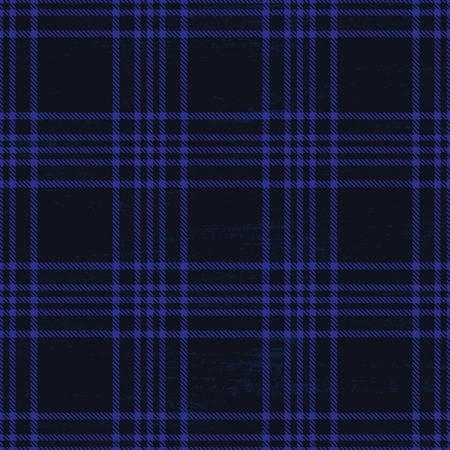 Dark blue vector tartan pattern background