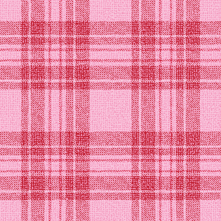 Pink and red plaid textured fabric vector pattern background Stok Fotoğraf - 104108324