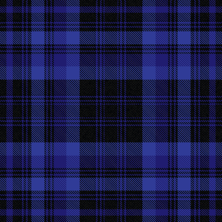 Tartan inspired black and blue vector background