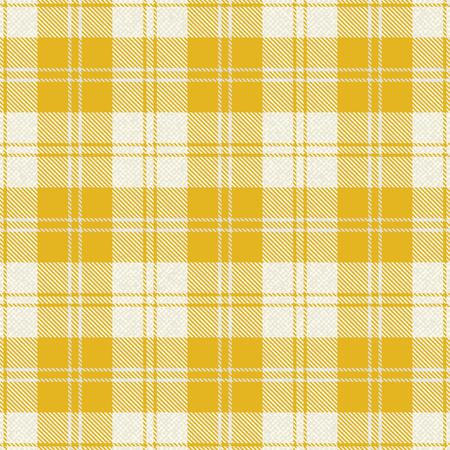 Yellow plaid tartan fabric 1