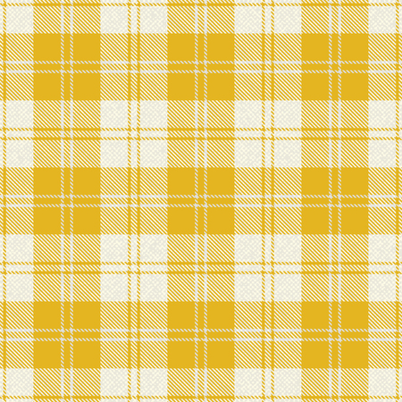 Yellow plaid tartan fabric 1