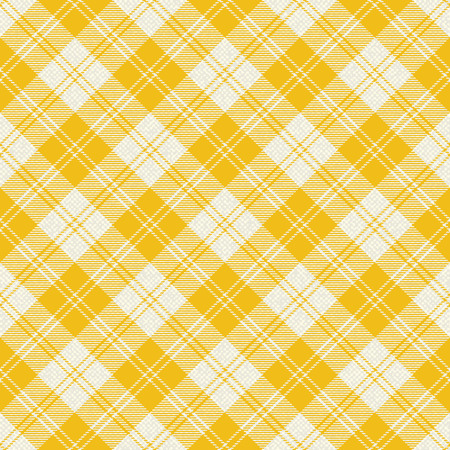 Yellow plaid tartan fabric 2
