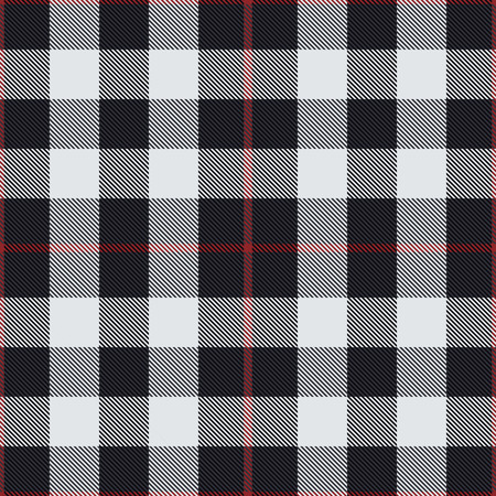 Black and white tartan vector seamless pattern background