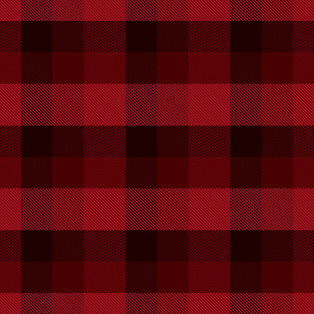 Black and red tartan vector seamless pattern background 1 Ilustração