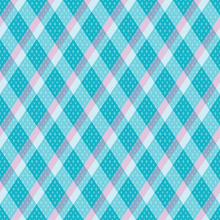 Pastel diagonal tartan inspired vector seamless pattern background 1