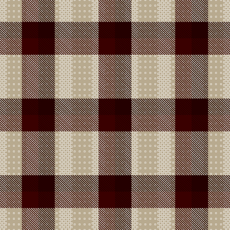 Decorative tartan inspired vector seamless pattern background 3