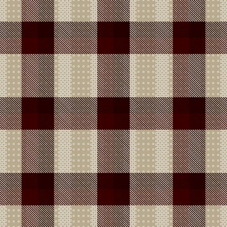 Decorative tartan inspired vector seamless pattern background 3