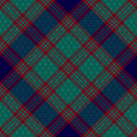 Diagonal tartan inspired vector seamless pattern background 3  イラスト・ベクター素材