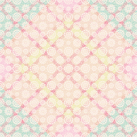 Abstract plaid pastel vector seamless pattern background 2