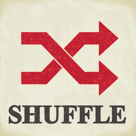 Shuffle sign - conceptual vector illustration 2