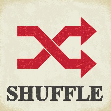 Shuffle sign - conceptual vector illustration 2