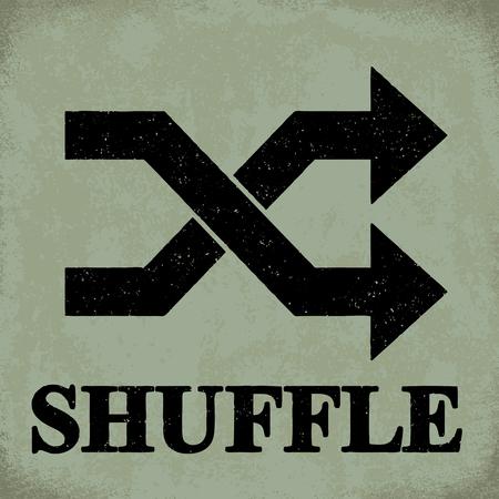 Shuffle sign - conceptual vector illustration 1