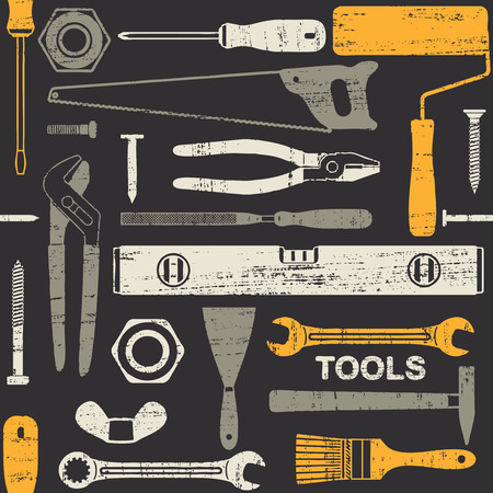 Scratched seamless pattern with various hand tools 6