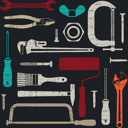 Scratched seamless pattern with various hand tools 5