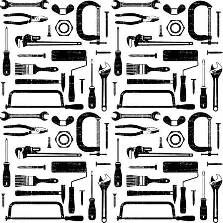 Scratched seamless pattern with various hand tools 4
