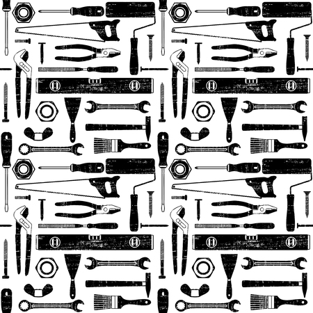 Scratched seamless pattern with various hand tools 2  Ilustrace