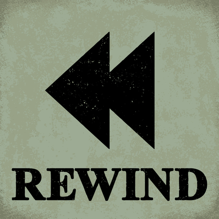 Rewind sign - conceptual vector illustration 1 Stock Illustratie
