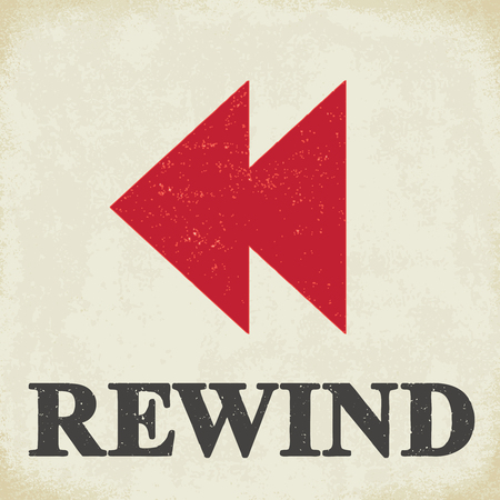 Rewind sign - conceptual vector illustration 2