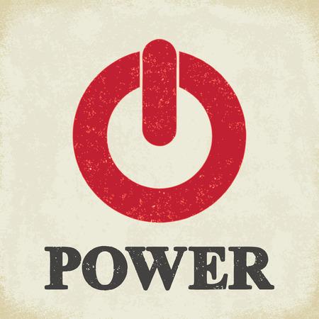 Power sign - conceptual vector illustration 2