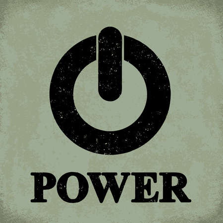 Power sign - conceptual vector illustration 1 Stock Illustratie